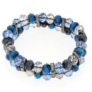 Blue sparkling stretch bracelet